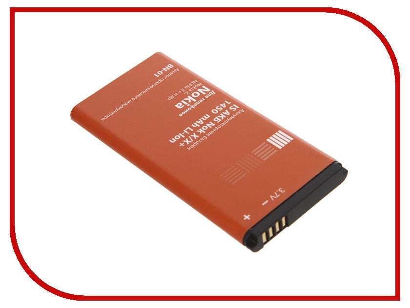 Аксессуар Аккумулятор Nokia X 1450 mAh InterStep NOKBN01BK 37861<br>