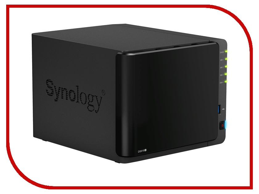 Сетевое хранилище Synology DS916+ сетевое хранилище orico 7618u3rf black