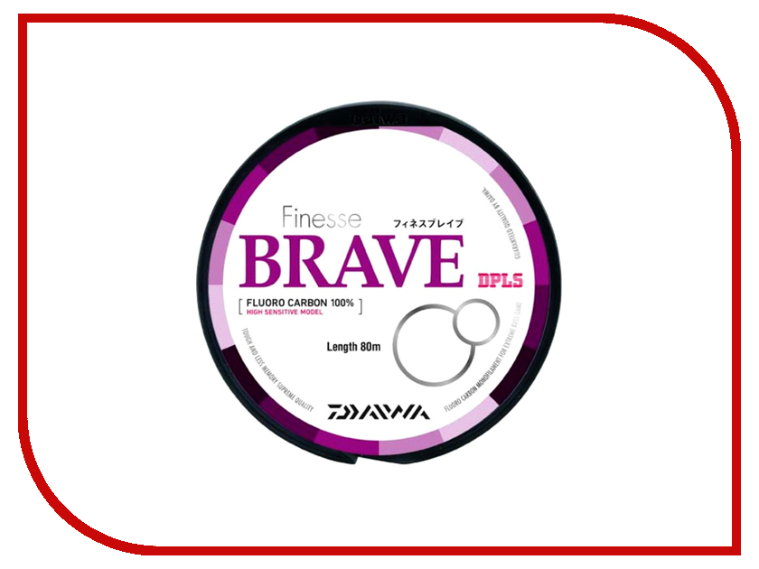 Леска Daiwa Finesse Brave 2lb 80m 04625341
