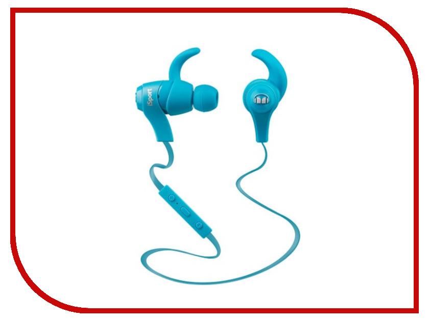 Гарнитура Monster iSport Bluetooth Wireless Blue 128659-00<br>