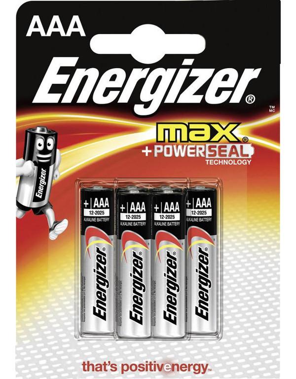Батарейка AAA - Energizer Max LR03/E92 FSB4 (4 штуки) E301321701 / 38691