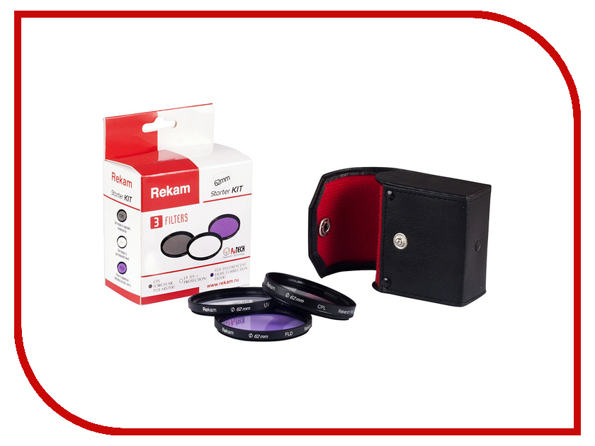 Светофильтр Rekam Starter KIT F SET UV+CPL+FLD 62mm<br>