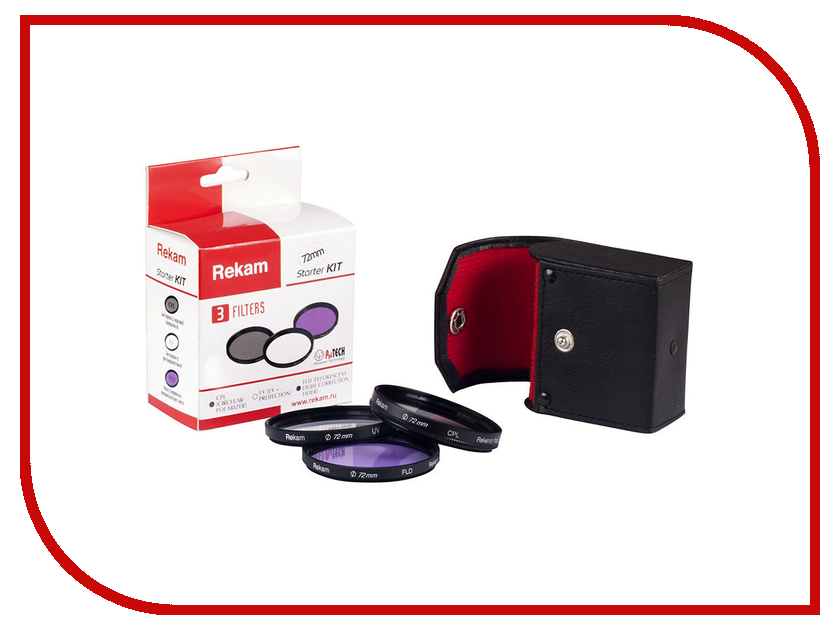 Светофильтр Rekam Starter KIT F SET UV+CPL+FLD 72mm<br>