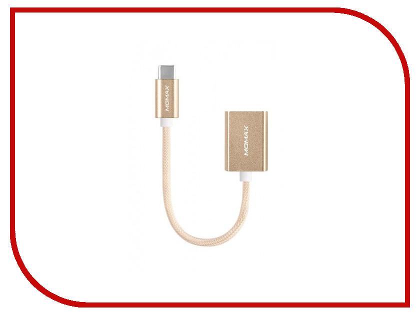 Аксессуар MOMAX OTG USB/Type-C Elite Link 18cm DTAF Gold<br>
