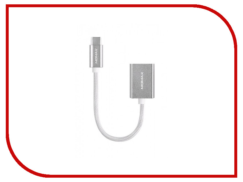 Аксессуар MOMAX OTG USB/Type-C Elite Link 18cm DTAF Silver<br>