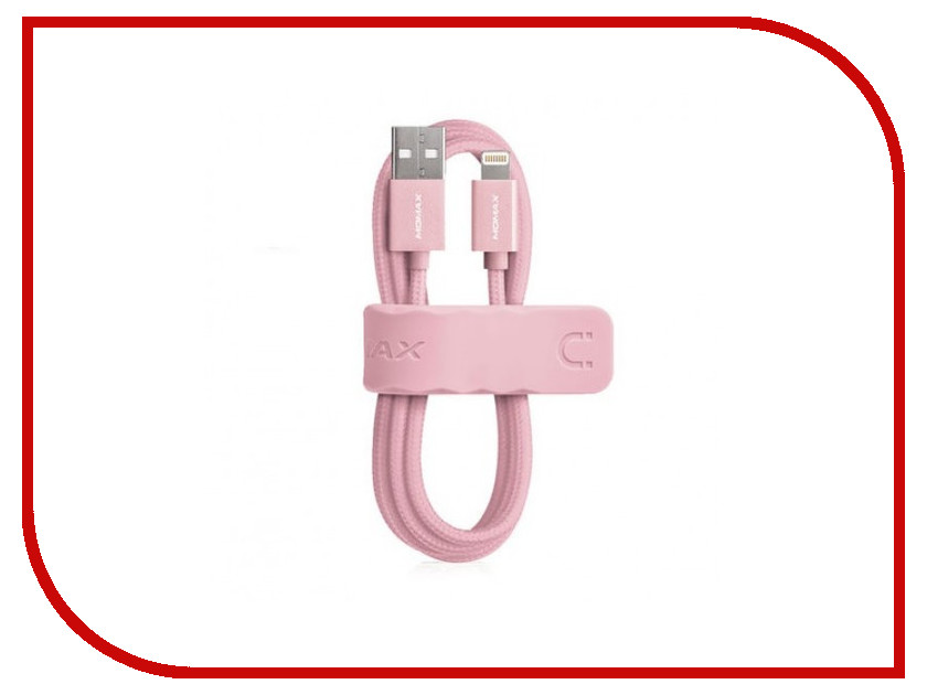 Аксессуар MOMAX USB / Lightning Elite Link 3m MFI DL6 Rose Gold<br>