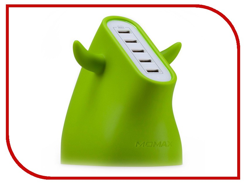 Зарядное устройство MOMAX U.Bull 5-port USB UM5S Green<br>