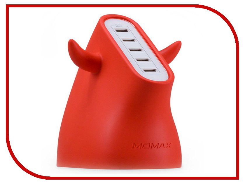 Зарядное устройство MOMAX U.Bull 5-port USB UM5S Red