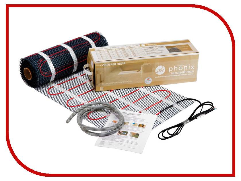 Теплый пол Phonix 2.0 m2 300W полотенцесушитель phonix h 8b