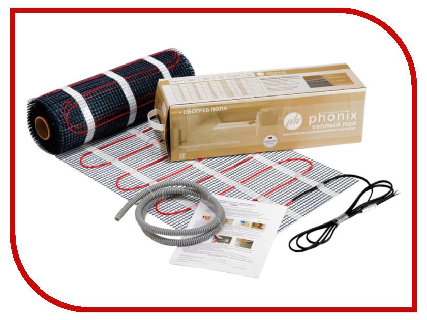 Теплый пол Phonix 2.5 m2 375W полотенцесушитель phonix h 8b