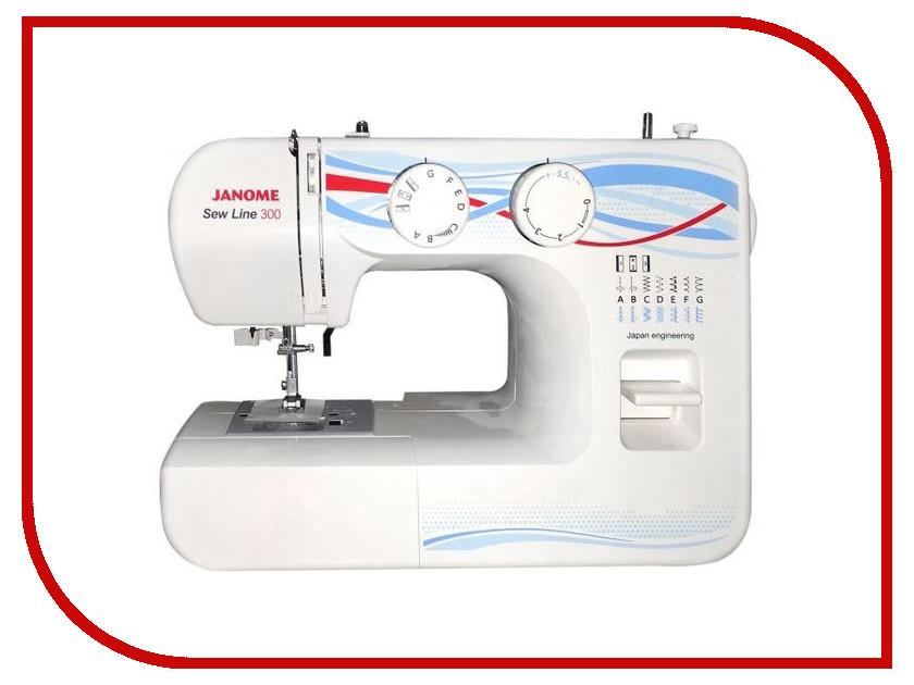Швейная машинка Janome Sew Line 300 швейная машинка janome sew line 300 белый