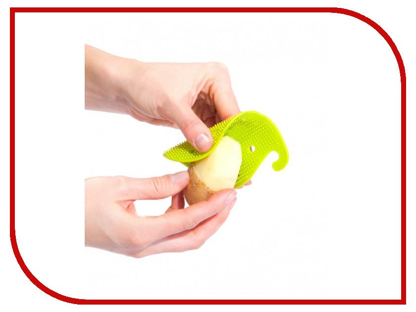 Губка для чистки овощей и фруктов Bradex Green TK 0207 кухонная принадлежность bradex держатель чайных пакетиков и ложки кролик pink tk 0234