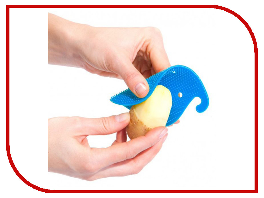 Губка для чистки овощей и фруктов Bradex Blue TK 0208 кухонная принадлежность bradex держатель чайных пакетиков и ложки кролик pink tk 0234