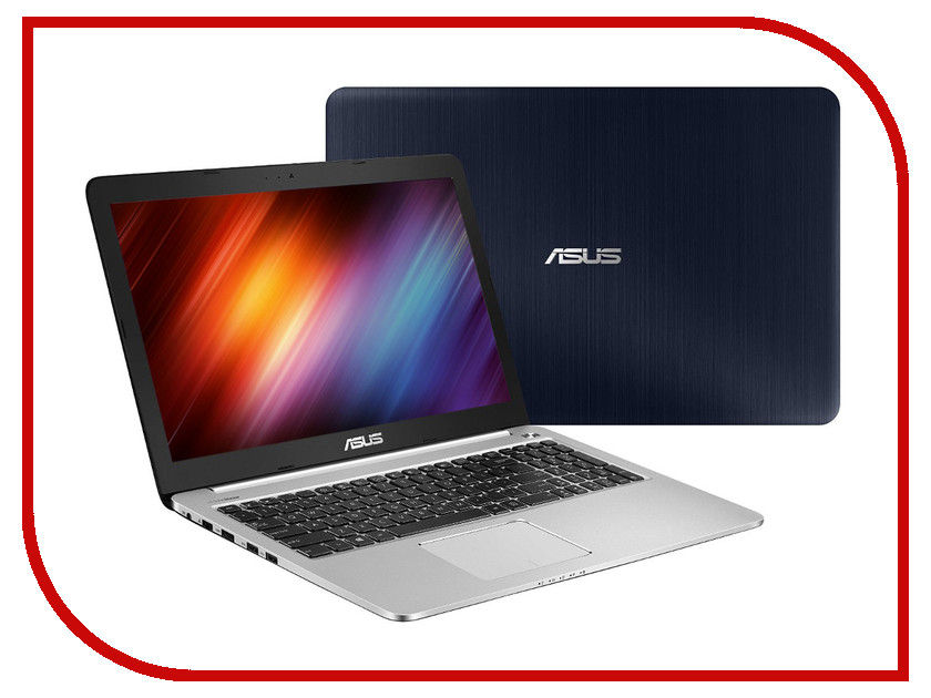 Ноутбук ASUS K501LB-DM131D 90NB08P1-M02350 (Intel Core i5-5200U 2.2 GHz/6144Mb/1000Gb/No ODD/nVidia GeForce 940M 2048Mb/Wi-Fi/15.6/1920x1080/DOS)<br>