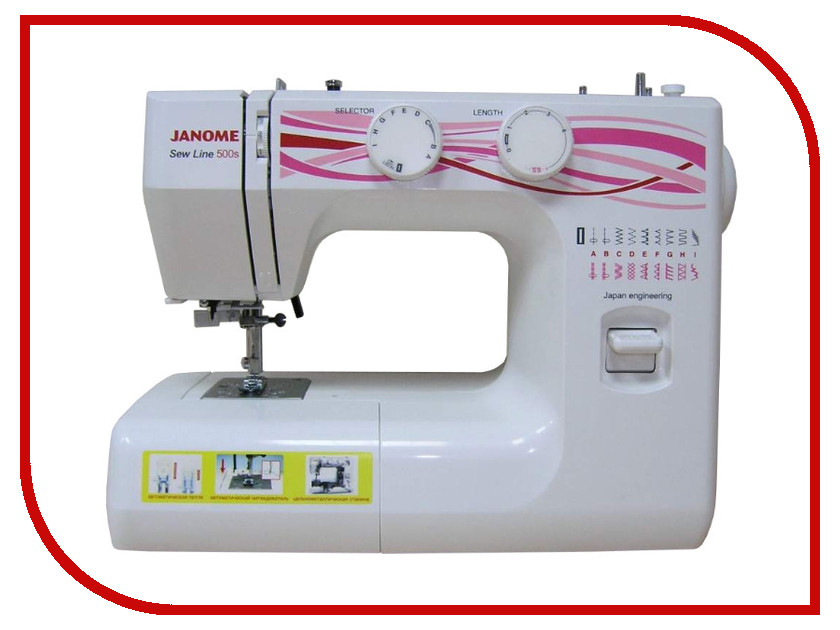 Швейная машинка Janome Sew Line 500s швейная машина janome sew dream 510