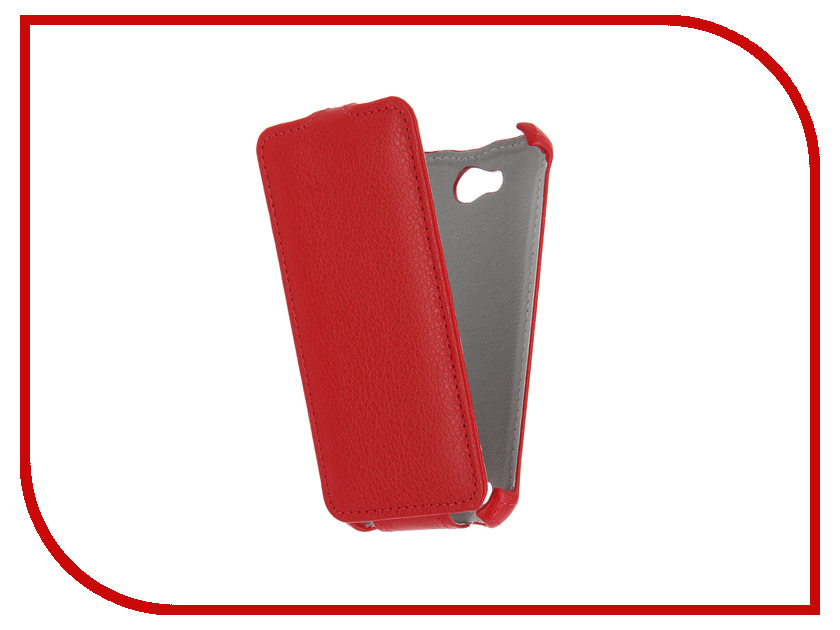 Аксессуар Чехол Micromax D306 Bolt Gecko Red GG-F-MICD306-RED аксессуар чехол флип micromax q450 canvas silver 5 gecko red gg f micq450 red