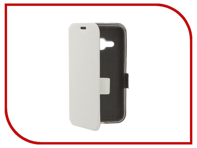 Аксессуар Чехол Samsung Galaxy J1 2016 Prime Book White T-P-SGJ12016-05<br>