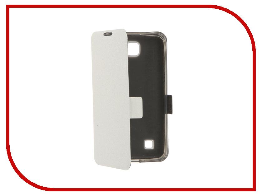 все цены на Аксессуар Чехол LG K4 Prime Book White T-P-LK4-05