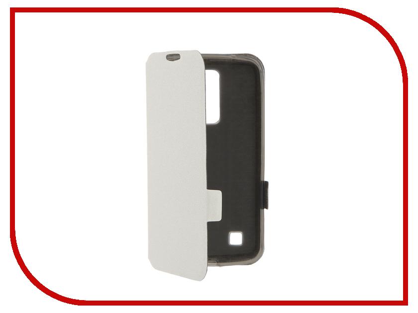 Аксессуар Чехол LG K10 Prime Book White T-P-LK10-05<br>
