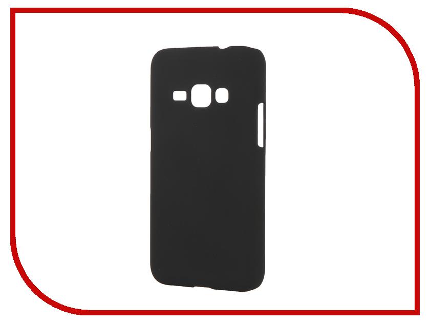 Аксессуар Чехол Samsung Galaxy J1 2016 SkinBox 4People Black T-S-SGJ12016-002 + защитная пленка<br>
