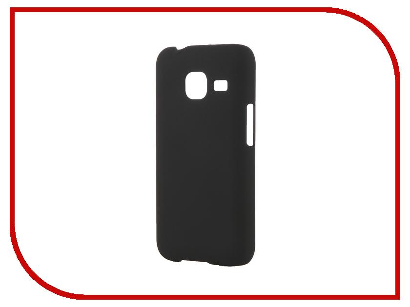 Аксессуар Чехол Samsung Galaxy J1 mini 2016 SkinBox 4People Black T-S-SGJ1m2016-002 + защитная пленка<br>