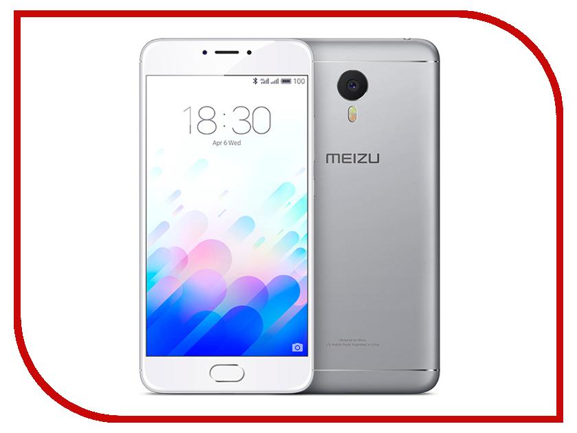 Сотовый телефон Meizu M3 Note 32Gb Silver-White смартфон meizu m3 note 32gb silver