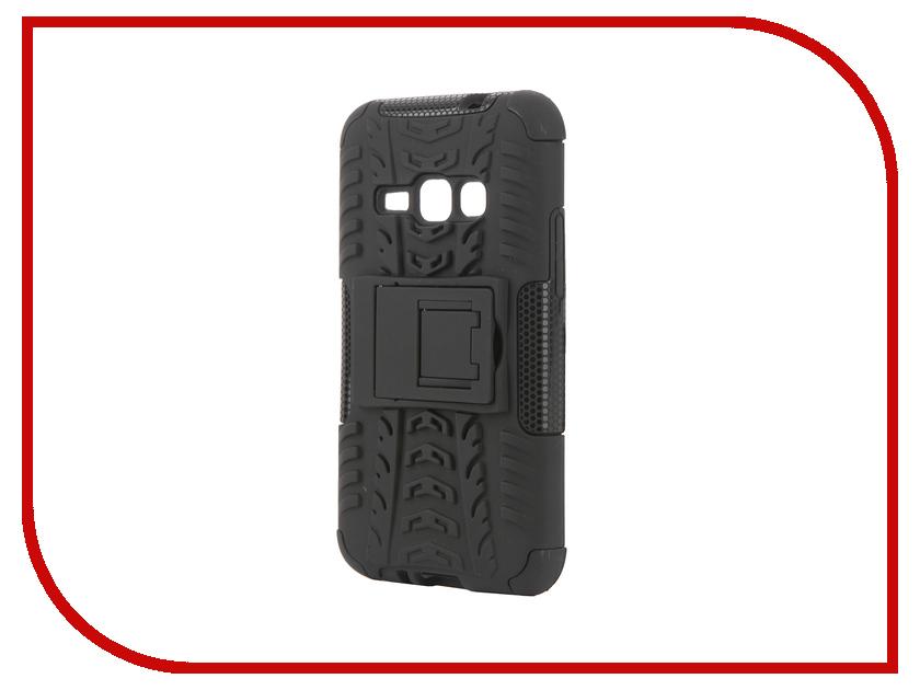 Аксессуар Чехол Samsung Galaxy J1 2016 SkinBox Defender Case Black T-S-SGJ12016-06<br>