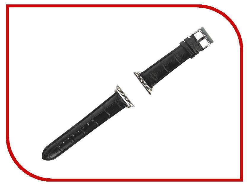Аксессуар Браслет APPLE Watch Remax RM 381 Black Leather<br>