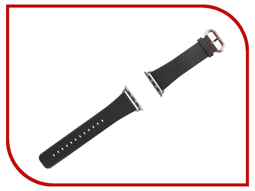 Аксессуар Браслет Remax APPLE Watch RM 383 Black Leather