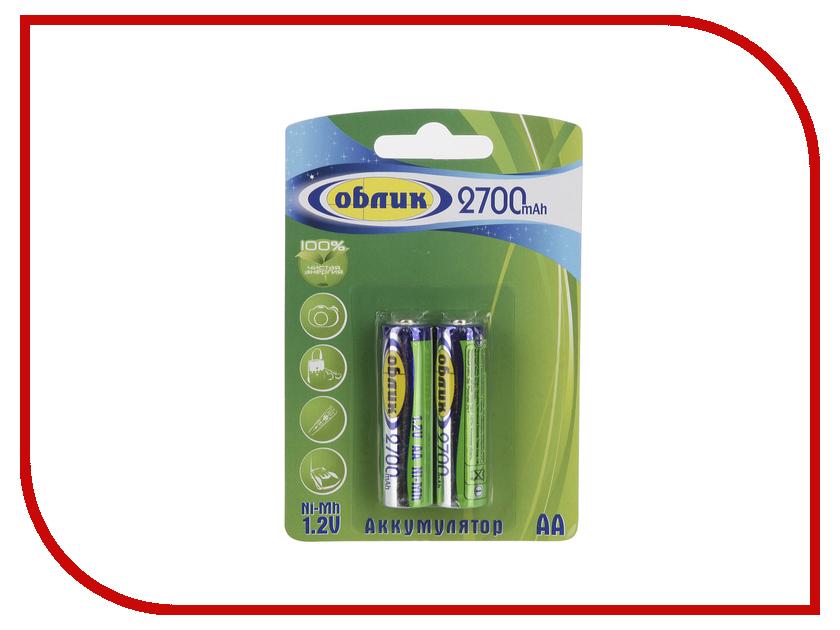 Аккумулятор AA - Облик Ni-Mh 2700 mAh ОБ-6171 (2 штуки)<br>