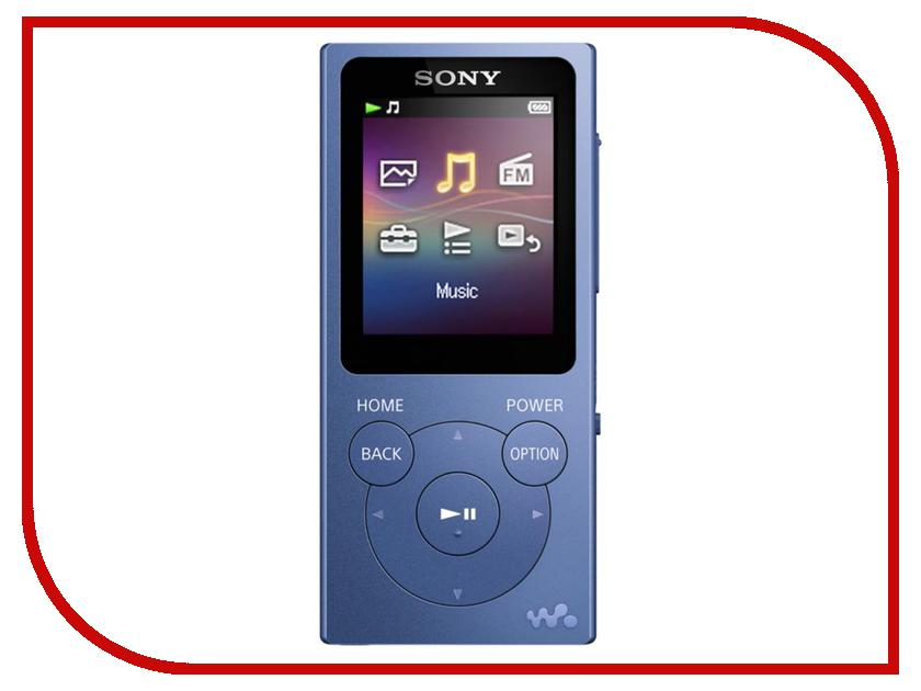 Плеер Sony NW-E394 Walkman - 8Gb Blue плеер sony nw a45 blue