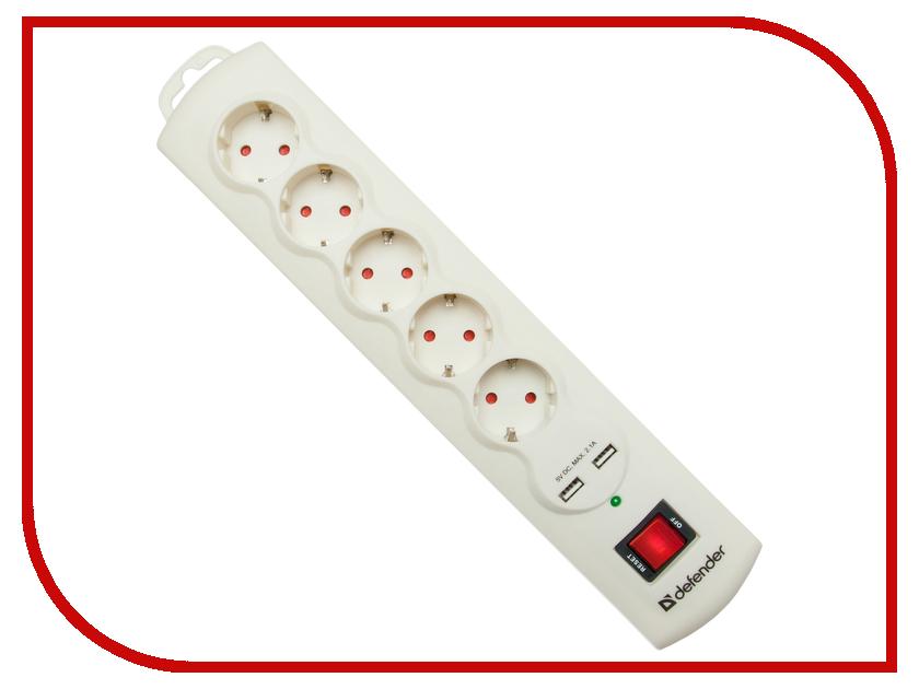 Сетевой фильтр Defender DFS 951 5 Sockets 1.5m 99951 сетевой фильтр defender dfs 601 6 sockets 1 8m 99406
