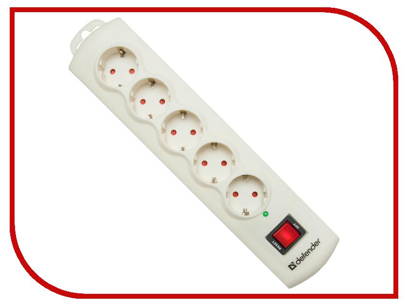 Сетевой фильтр Defender DFS 565 5 Sockets 1.5m 99565