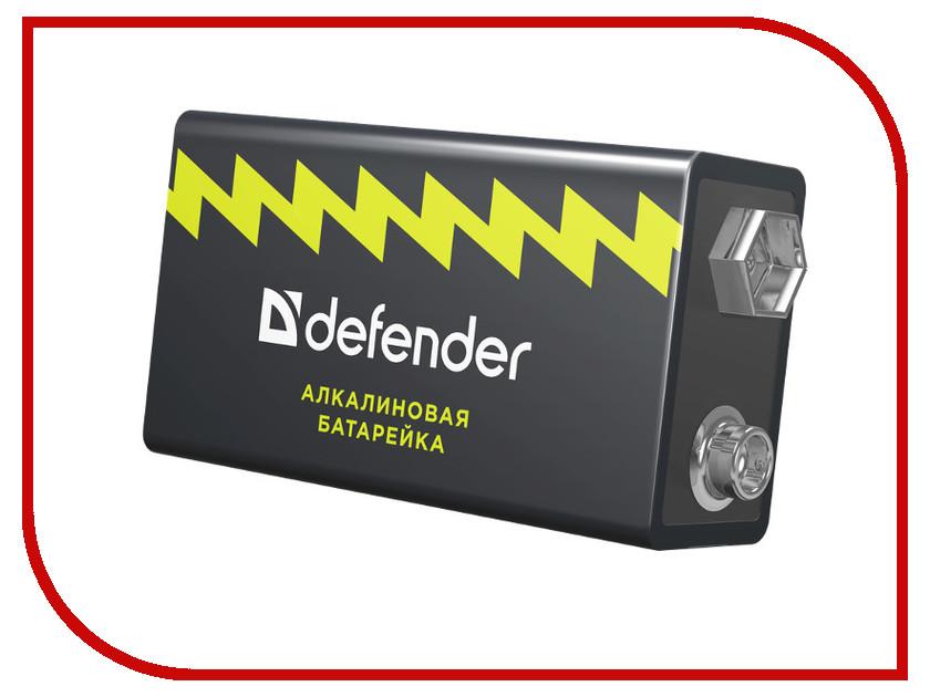 Батарейка КРОНА Defender Alkaline 6LR61-1B 56042 (1 штука)