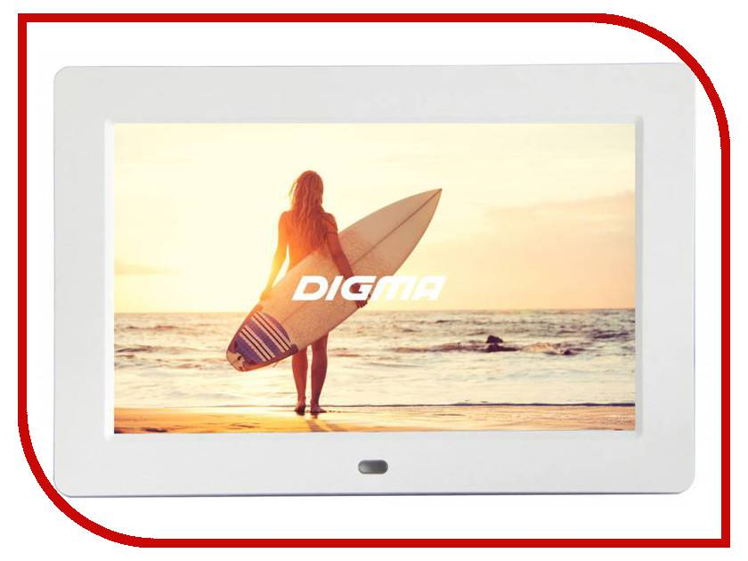 Цифровая фоторамка Digma PF-1033 White цифровая фоторамка digma pf 733 black
