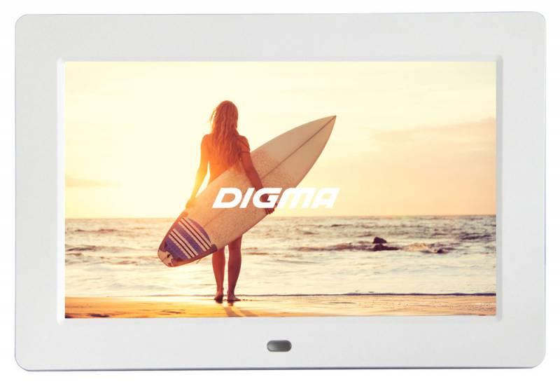 Цифровая фоторамка Digma PF-1033 White цифровая фоторамка digma pf 733