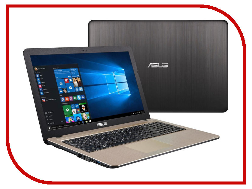 Ноутбук ASUS X540SC-XX033T 90NB0B21-M00730 (Intel Pentium N3700 1.6 GHz/4096Mb/500Gb/No ODD/nVidia GeForce 810M 1024Mb/Wi-Fi/Cam/15.6/1366x768/Windows 10 64-bit)<br>