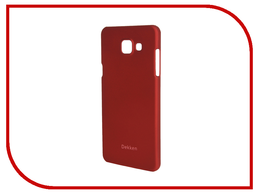 Аксессуар Чехол-накладка Samsung Galaxy A5 2016 Dekken Soft Touch Red 20330<br>