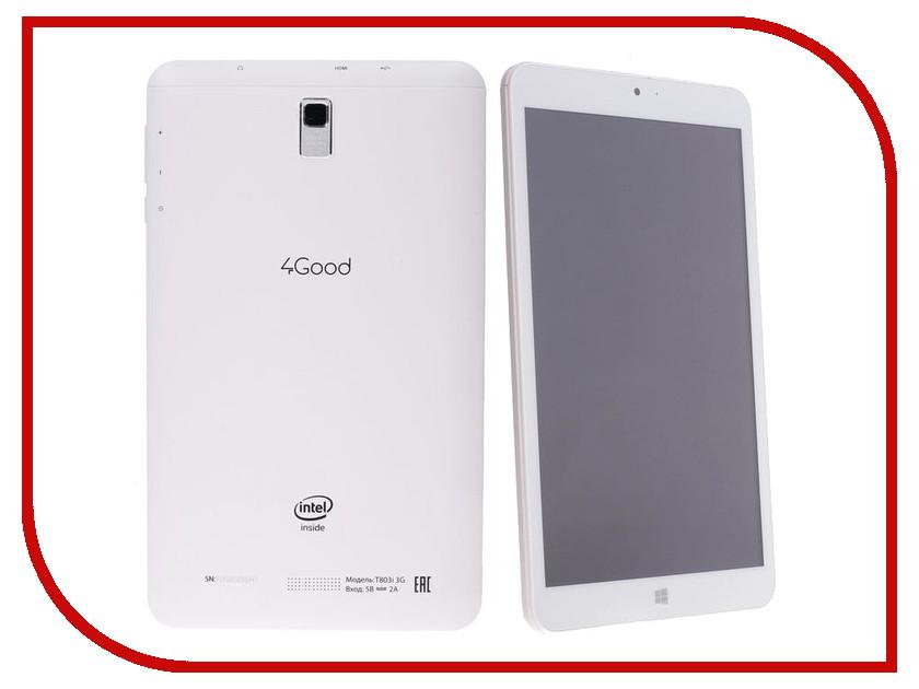 Планшет 4Good T803i 3G White Intel Atom Z3735G 1.33 GHz/1024Mb/16Gb/3G/Wi-Fi/Bluetooth/Cam/8.0/1280x800/Windows 10<br>