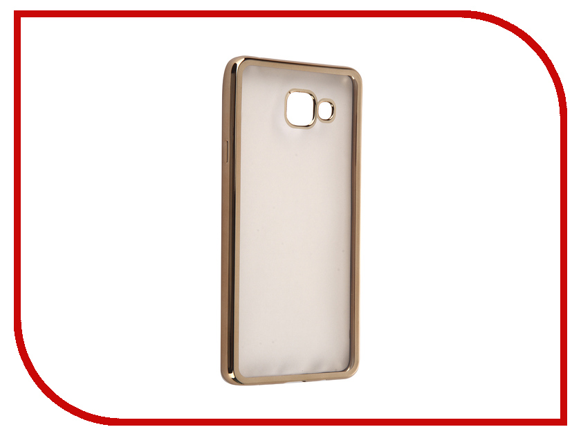 Аксессуар Чехол Samsung Galaxy A7 2016 DF sCase-24 Gold аксессуар чехол samsung g925f galaxy s6 edge df scase 19 rose gold