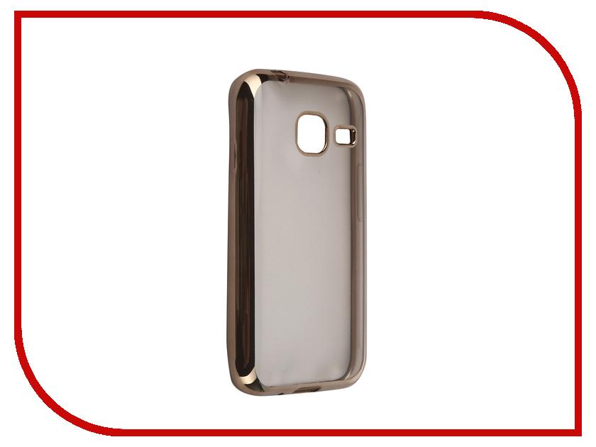 Аксессуар Чехол Samsung Galaxy J1 mini 2016 DF sCase-26 Gold аксессуар чехол samsung galaxy j1 mini 2016 df scase 26 rose gold