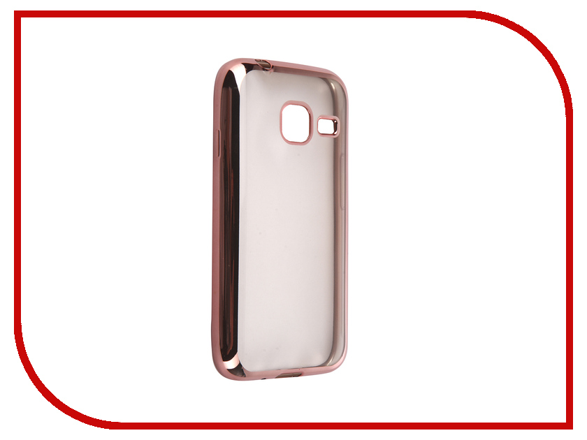 Аксессуар Чехол Samsung Galaxy J1 mini 2016 DF sCase-26 Rose Gold аксессуар чехол samsung g925f galaxy s6 edge df scase 19 rose gold
