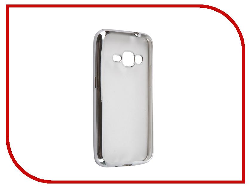 Аксессуар Чехол Samsung Galaxy J1 2016 DF sCase-27 Silver<br>