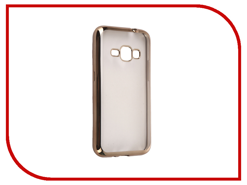 Аксессуар Чехол Samsung Galaxy J1 2016 DF sCase-27 Gold<br>