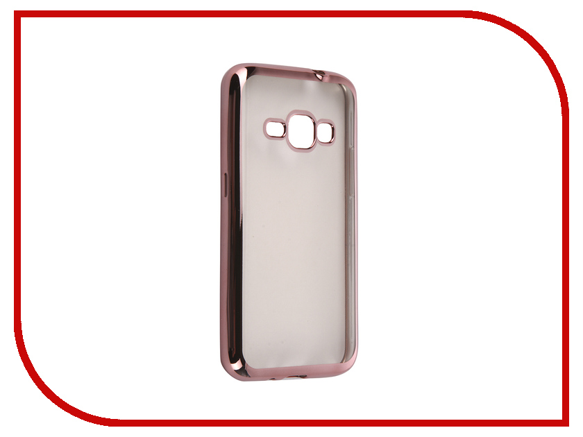 Аксессуар Чехол Samsung Galaxy J1 2016 DF sCase-27 Rose Gold<br>