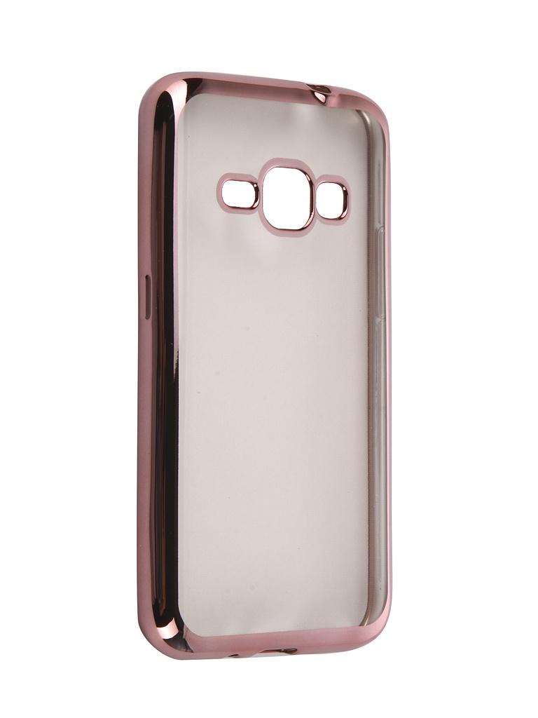 Аксессуар Чехол DF для Samsung Galaxy J1 2016 sCase-27 Rose Gold аксессуар чехол накладка samsung galaxy j3 2016 df scase 10