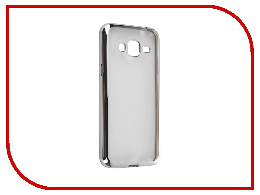 Аксессуар Чехол Samsung Galaxy J3 2016 DF sCase-28 Silver<br>
