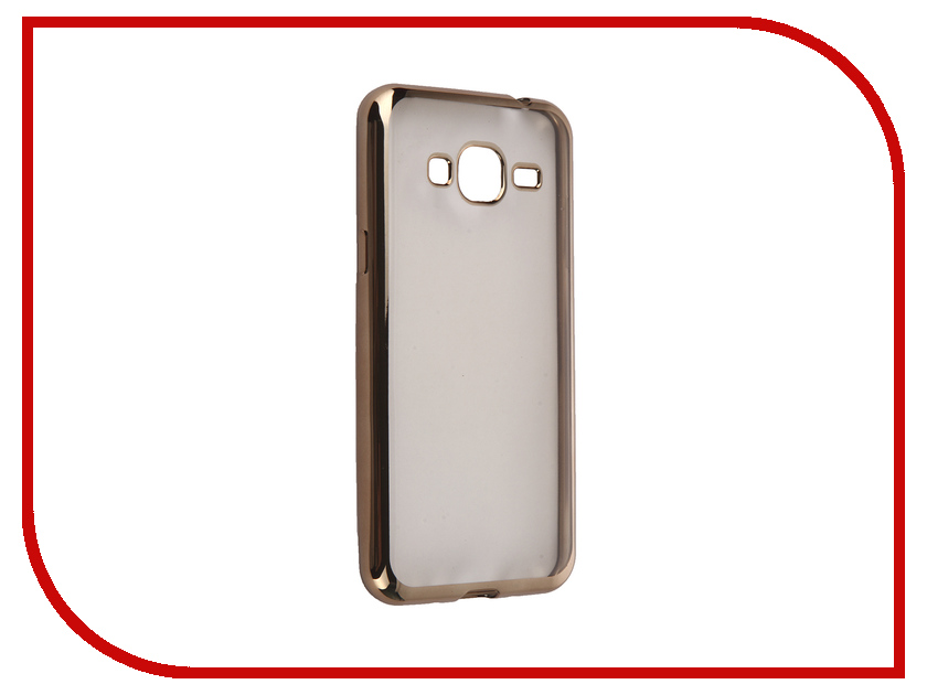 Аксессуар Чехол Samsung Galaxy J3 2016 DF sCase-28 Gold аксессуар чехол samsung g925f galaxy s6 edge df scase 19 rose gold