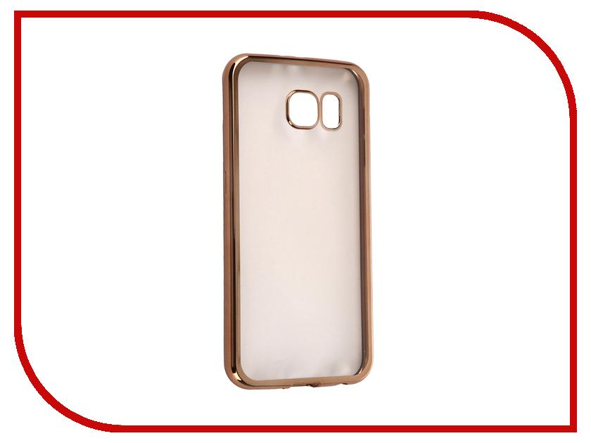 Аксессуар Чехол Samsung G920F Galaxy S6 DF sCase-31 Gold<br>