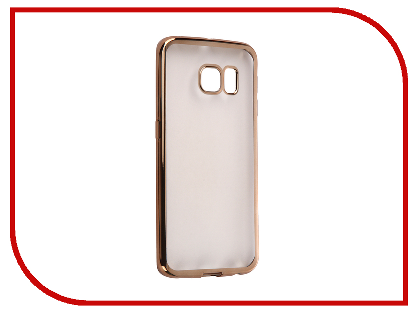 Аксессуар Чехол Samsung G925F Galaxy S6 Edge DF sCase-19 Gold аксессуар чехол samsung g925f galaxy s6 edge df scase 19 rose gold